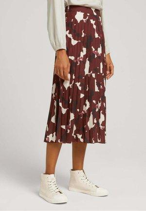 A-line skirt - organic abstract print