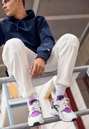 AIR HUARACHE UNISEX - Sneakers basse - white/neon yellow/magenta/black