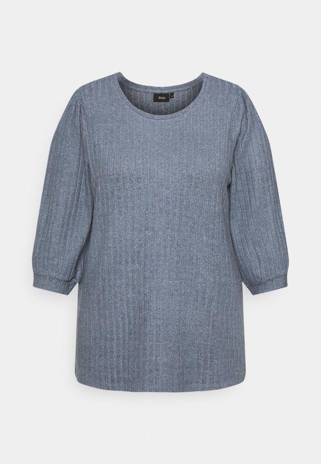 ELULLI BLOUSE - Sweter - vintage indigo melange