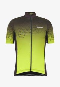 LÖFFLER - BIKE EVO - T-Shirt print - black/light green - 4
