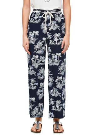 ALLOVER-PRINT - Trousers - dark blue aop palms