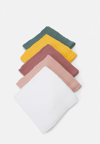 NBFKISSY NAPPIES 5 PACK UNISEX - Muslin blanket - bright white