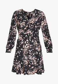 MOTTLED ANIMAL BUTTON FRONT DRESS - Day dress - pink/multi