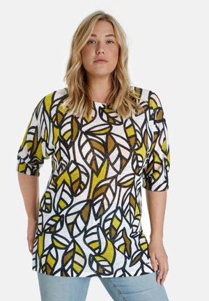 T-shirt print - citronella gemustert