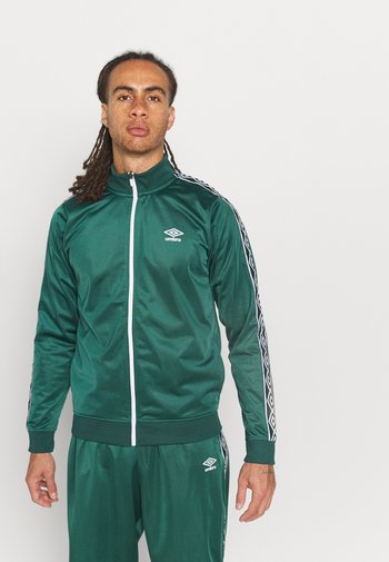 ACTIVE STYLE TAPED TRACKSUIT - Träningsset - botanical green/white