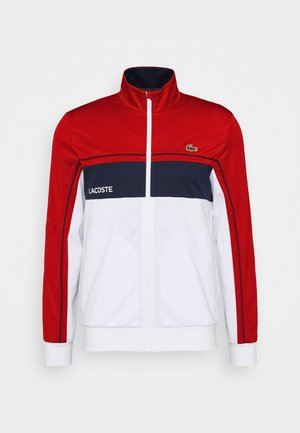 TENNIS JACKET - Sportovní bunda - ruby/white/navy blue/white