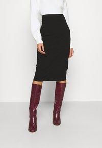 Even&Odd - 2 PACK - Pencil skirt - black - 1