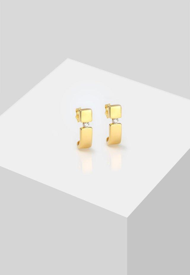 STECKER ELEGANT DIAMANT GEO  - Earrings - gold-coloured