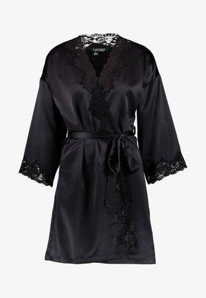 KIMONO ROBE - Dressing gown - black