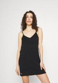 Cotton On Body - SLEEP RECOVERY V NECK NIGHTIE - Nightie - black - 0