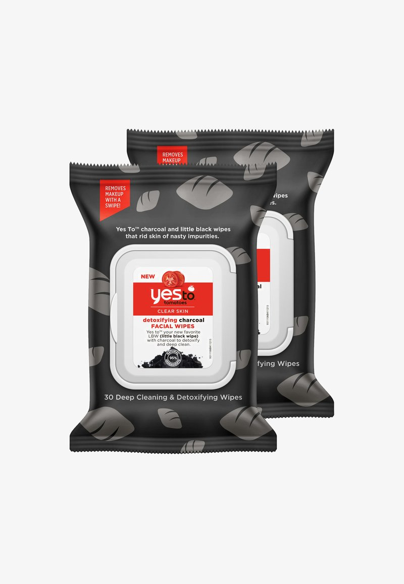 Yes To - YES TO TOMATOES CLEAR SKIN DETOXIFYING CHARCOAL FACIAL WIPES 2 PACK - Cleanser - -