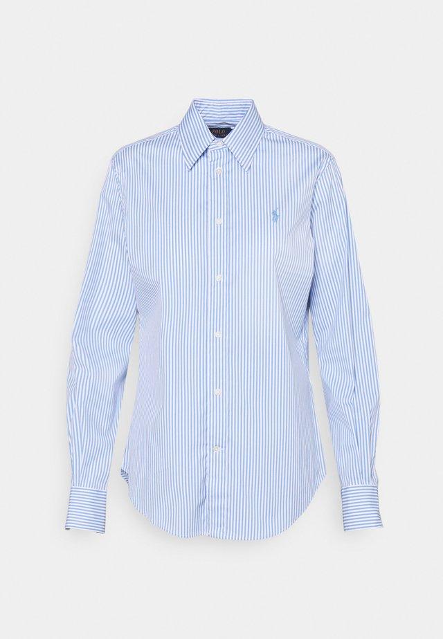 STRETCH - Button-down blouse - medium blue