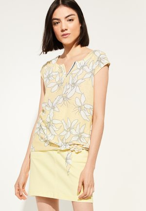 Blouse - yellow small flower