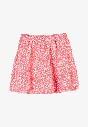 A-line skirt - light orange aop