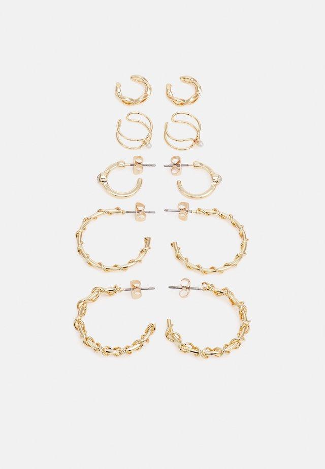 ELLIE EARRINGS 5 PACK - Earrings - gold-coloured