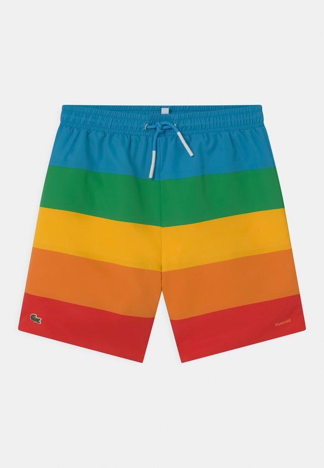 LACOSTE X POLAROID  - Shorts da mare - fiji/malachite/gypsum/orpiment/corrida