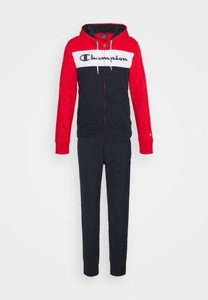 HOODED FULL ZIP SUIT - Tracksuit - red/dark blue