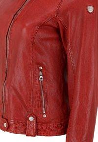 Gipsy - GGFAMOS CF LAMAXV - Leather jacket - red - 3