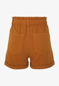 TOM TAILOR DENIM - CONSTRUCTED TWILL - Shorts - mango brown - 1