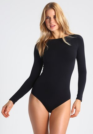 FALKE Fine Cotton Body  - Body - black