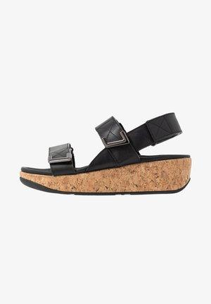 REMI - Sandály na platformě - all black
