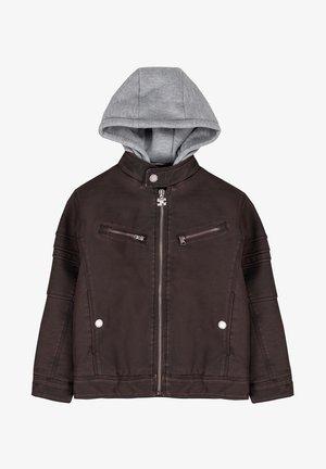 Faux leather jacket - marrón