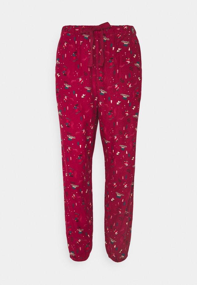 PANT CUFF - Pyjama bottoms - rumba red