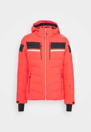 WOMAN JACKET ZIP HOOD - Ski jacket - red fluo