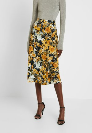BRISTOL LEIA SKIRT - Maxi sukně - black/yellow/white