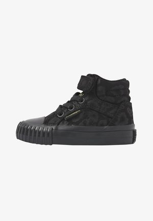 High-top trainers - black leopard/gold/black