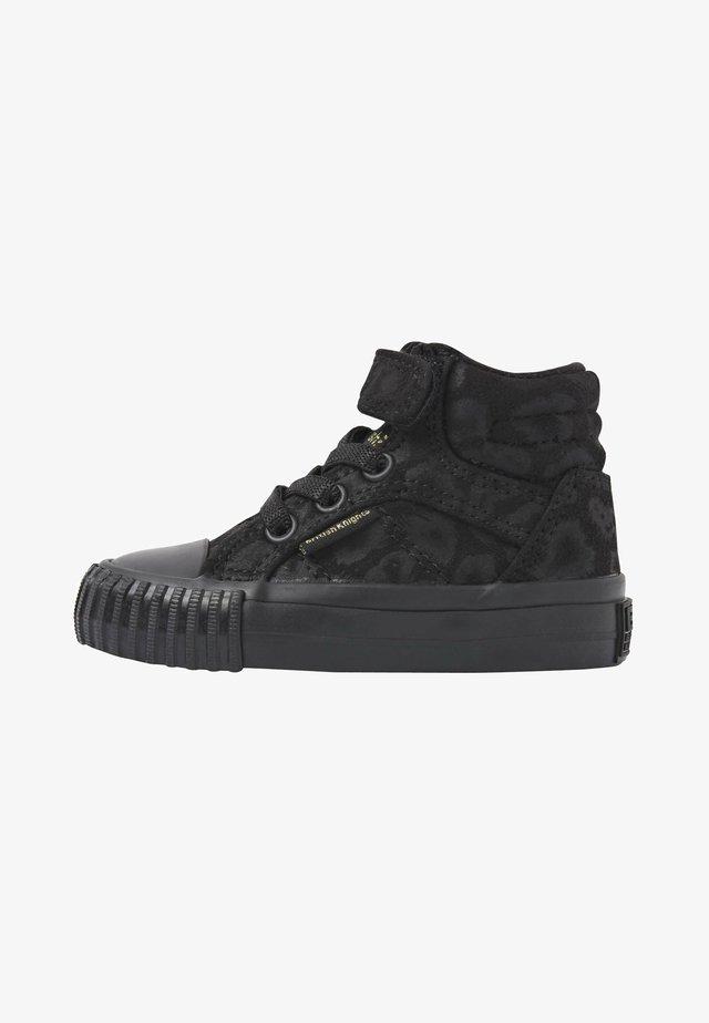Baskets montantes - black leopard/gold/black