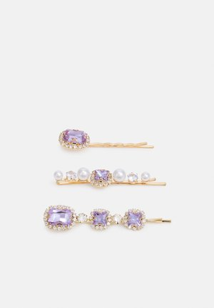 PCHAYDEN HAIRCLIPS 3 PACK - Hair Styling Accessory - gold-coloured/lilac-gold-coloured