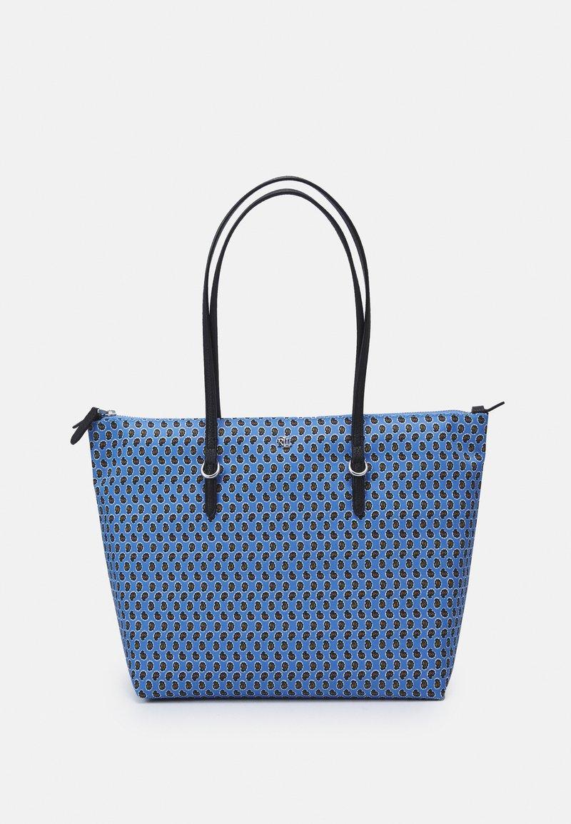 Lauren Ralph Lauren - KEATON TOTE-SMALL - Handbag - blue/off-white