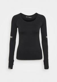 Even&Odd active - SEAMLESS  - Long sleeved top - black - 4