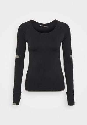 SEAMLESS  - Long sleeved top - black