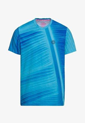 ENKIL TECH - Print T-shirt - blue/dark blue