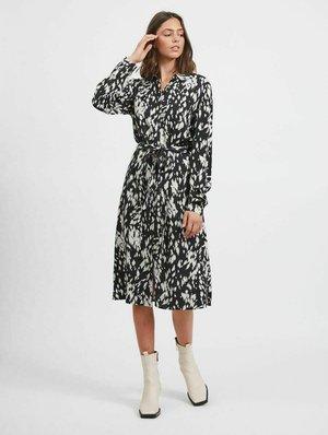 GEMUSTERTES  - Shirt dress - black