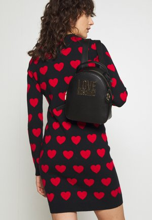 HEART SHAPE QUILTED XBODY - Sac bandoulière - nero