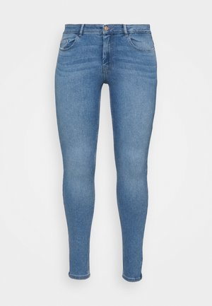 PCMIDFIVE FLEX - Jeans Skinny Fit - light blue denim