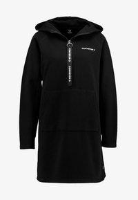 Converse - HOOD DRESS ZIP-PULLER - Shirt dress - black - 5