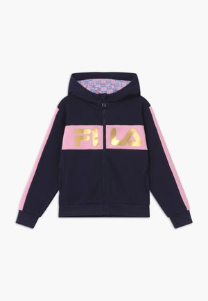 LUISA - veste en sweat zippée - black iris/lilac sachet