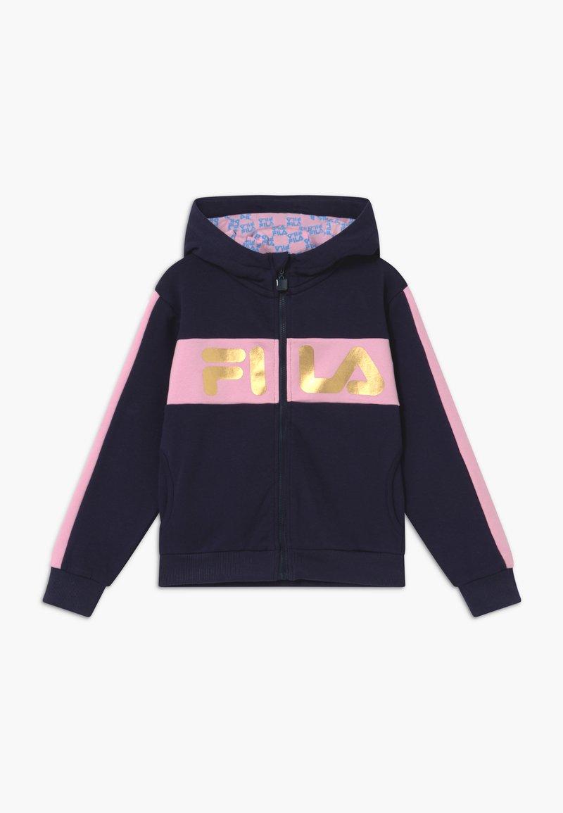 Fila - LUISA - veste en sweat zippée - black iris/lilac sachet