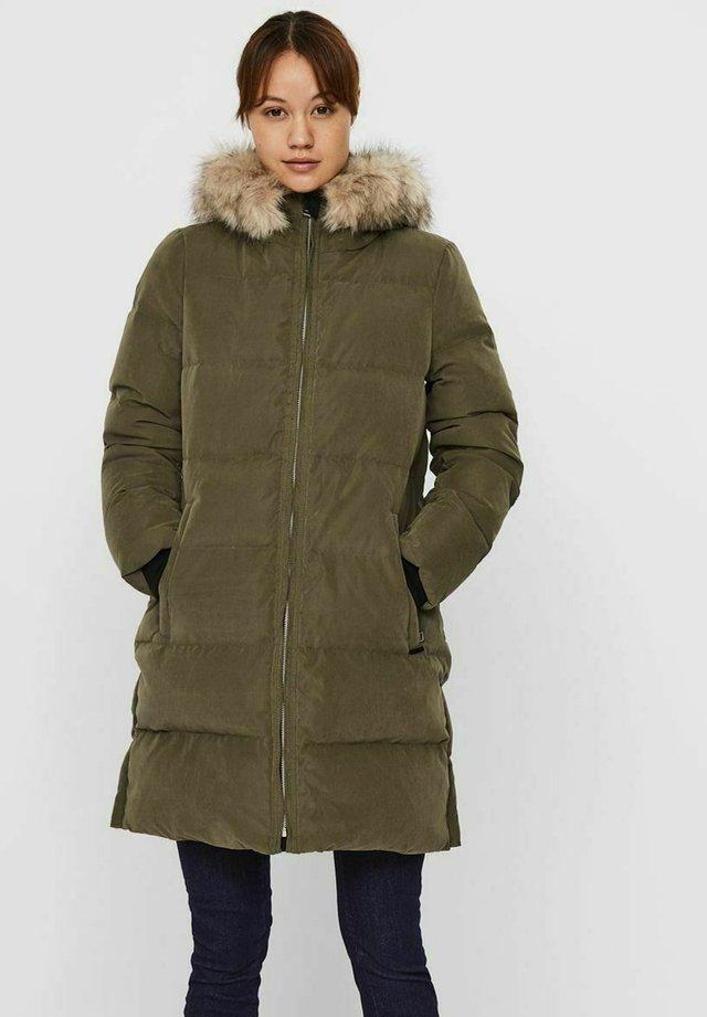 Down coat - ivy green