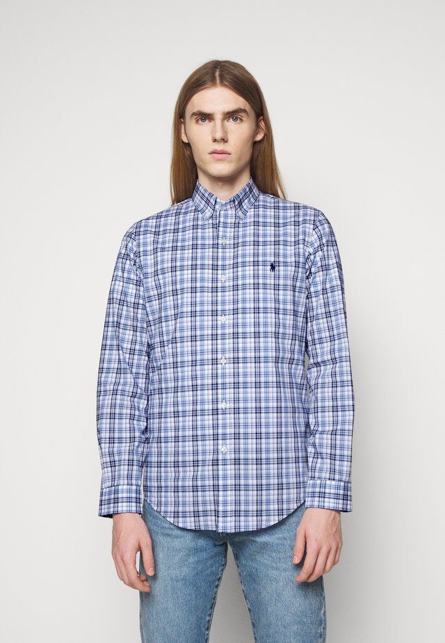 NATURAL - Shirt - white/blue