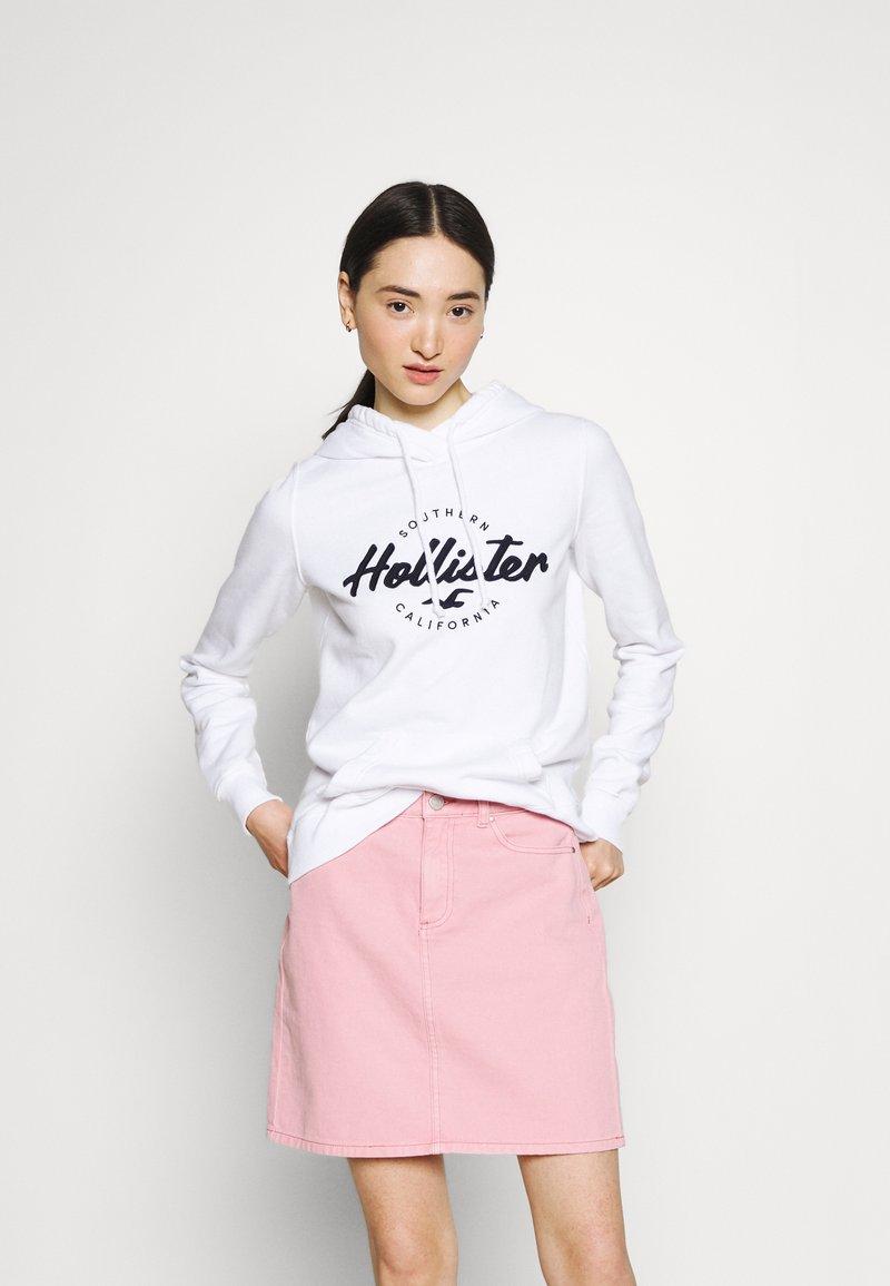 Hollister Co. - CHAIN TECH - Sweatshirt - white