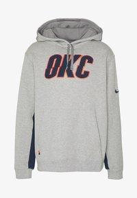 Nike Performance - NBA COURTSIDE HOODY THUNDER EARNED - Club wear - dark grey heather/college navy - 3