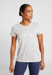 adidas Performance - WINNERS TEE - Print T-shirt - light grey - 0