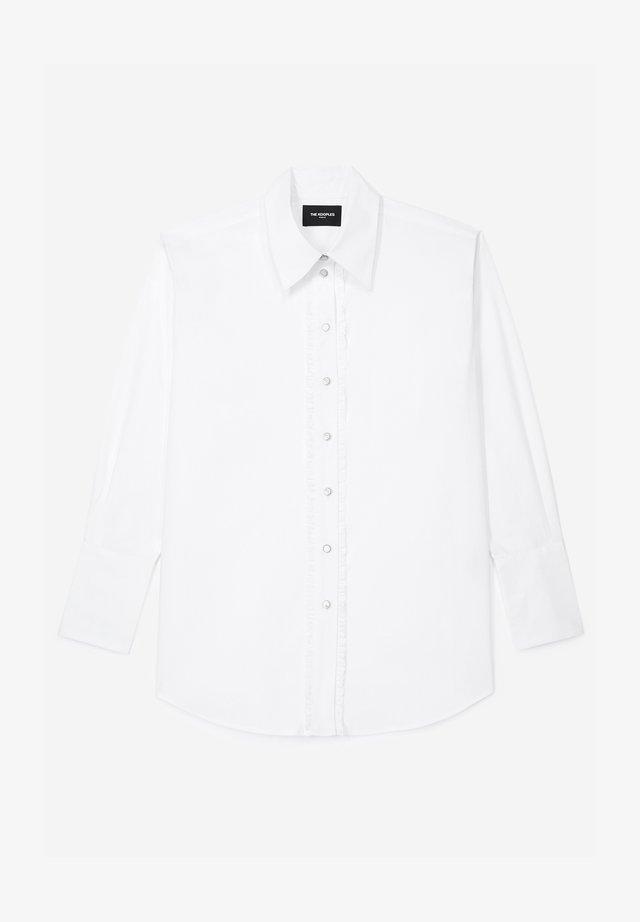 Button-down blouse - white