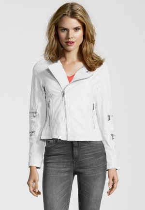 BE CHARMING - Leather jacket - off white