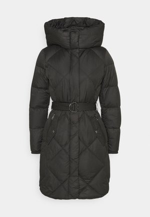 MATTE FINISH COZY BELTED COAT - Down coat - black